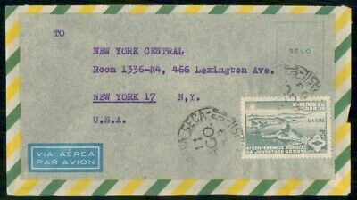 Mayfairstamps Brazil to NY Central Air Mail Cover wwe_98981