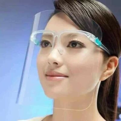 Eye Glass Face Shield Full Face Safety Guard Protector Clear New