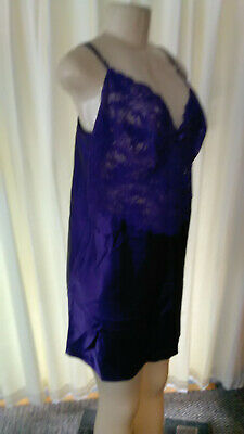 Extra Large Semi-Sheer Lace & Polyester Purple Nightgown Gender Fluid/CD/TG #154