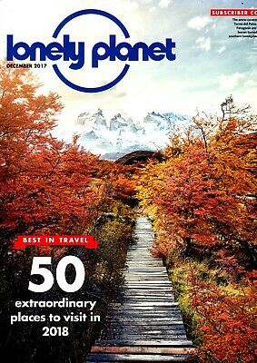 Lonely Planet Magazine, December 2017. Subscriber Cover
