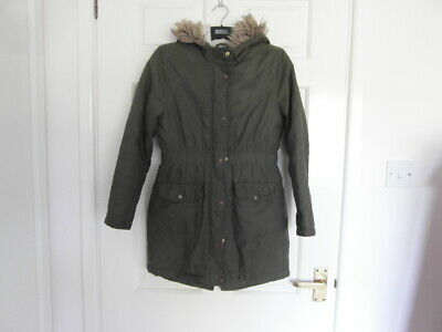 Debenhams used a size 11 yrs and Khaki in colour hooded Jacket