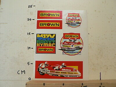 Sticker,Decal Brown Group  Sheet 6 Stickers Sidecar Racer Silkolene Moto Gp