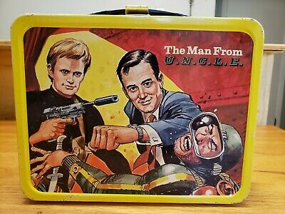 Vintage The Man From Uncle U.n.c.l.e. 1966 Metal Lunchbox And Thermos Excellent!
