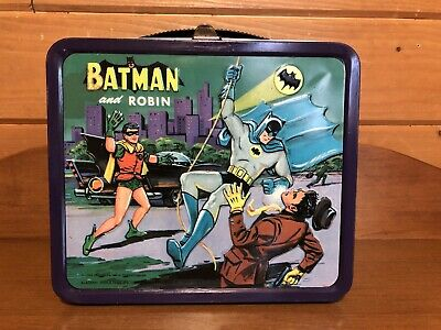 1966 Batman and Robin Lunchbox Lunch box Aladdin