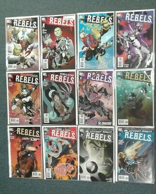 R.E.B.E.L.S. #1-20 DC Comics 2013 FULL SET LOT RUN! VF-NM 8.0-9.0 or Better!