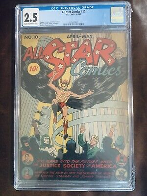 All Star Comics 10. CGC 2.5