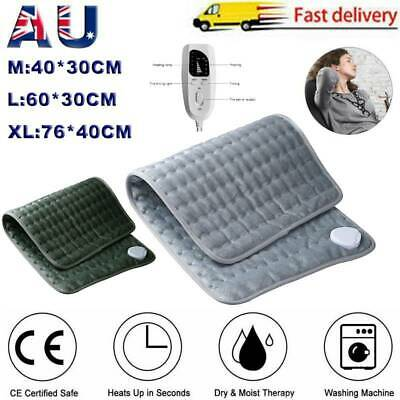 Electric Heating Pad Heated Therapy Fast Body Neck Shoulder Pain Relief Auto Off