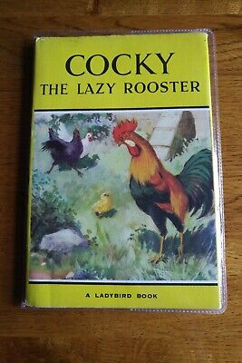 cocky the lazy rooster ladybird book with dust jacket 2/6