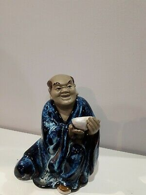 chinese mudmen figurine glazed