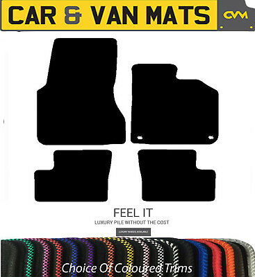 Smart For Four (2015 To Date) Carpet Car Floor Mats Choice of Coloured Trim