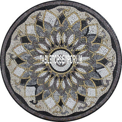 36'' Marble Center Round Dining Table Top Handmade Inlay Halloween Patio Decor