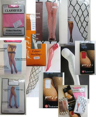 105 job lot resell fishnet tights stockings seamed 80's deadstock blk red white