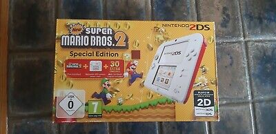 Nintendo 2ds weiss/rot Originalverpackung plus Anleitung incl 2  3ds Mario...