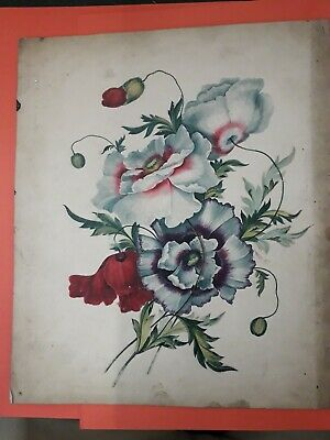 Original finley painted antique watercolour of flora early 19th century artist ?