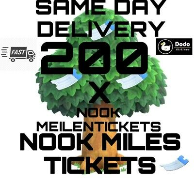 200 Nook Miles Tickets/Meilentickets Nmts Animal Crossing New Horizons Nmts