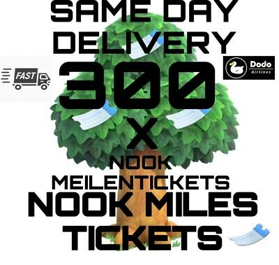 300 Nook Miles Tickets/Meilentickets Nmts Animal Crossing New Horizons
