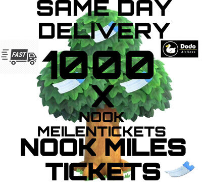 1000 Nook Miles Tickets/Meilentickets Nmts Animal Crossing New Horizons