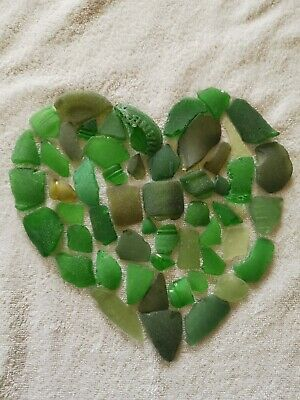 Green Seaglass handcollected and washed from the North east of England