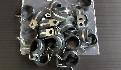 """25 pc  1"""" Adele Style Rubber Insulated Clamp ac16"""