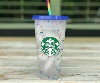 Free Fast Ship! Starbucks Rainbow Confetti Color Changing Cup Pride Summer 2020