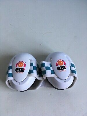 Em For kids Ear Defenders, Blue Chequered Headband. Good Condition