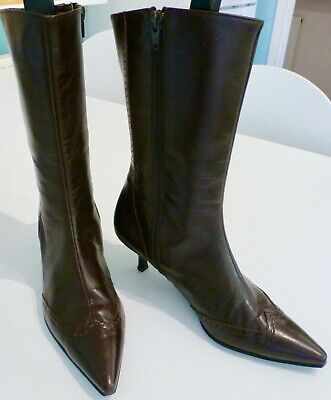 Vintage Laura Ashley Victorian style boots, size 5 (38)