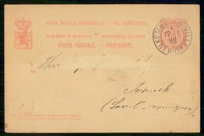 Mayfairstamps Luxembourgh 1890 Addressed Stationery Card wwf_00463