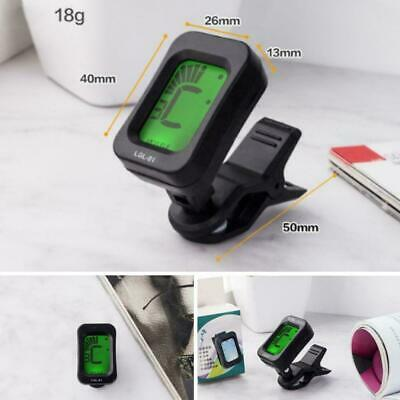 Lcd Clip On Chromatic Acoustic Electric Guitar Bass Banjo Tuner Ukulele G0P1