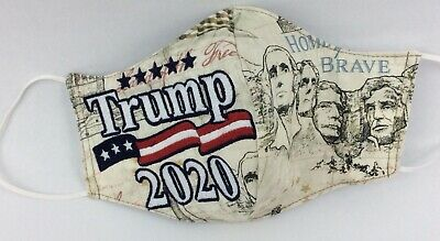 Novelty Custom Donald Trump 2020 Embroidered Print Fabric Face Cover Mask