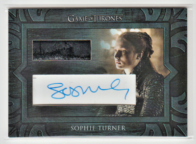 SCARCE Game of Thrones Season 8 Sophie Turner as Sansa Stark Cut AUTOGRAPH Relic