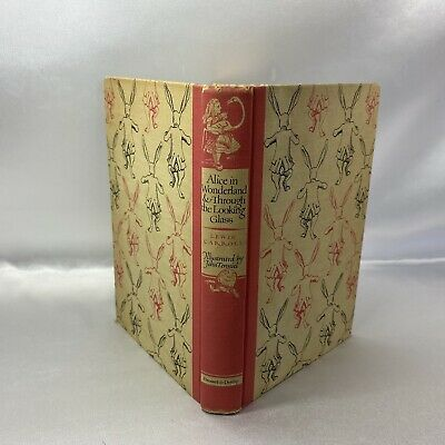 Vintage Alice in Wonderland & Through The Looking Glass Hardcover Book