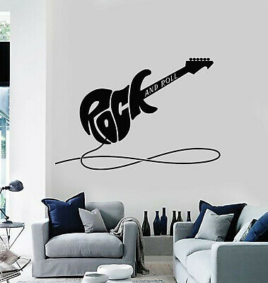 Vinyl Wall Decal Electric Guitar Rock&Roll Musical Instrument Stickers (g3007)