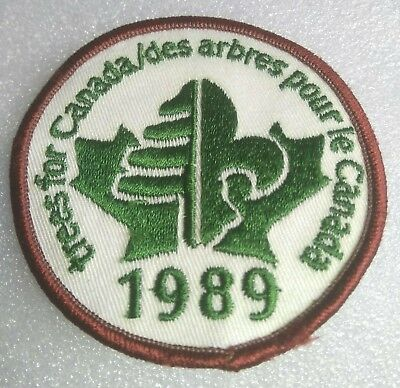 Boy Scouts Badge Patch Vtg 1989(Ont)Trees For Canada Circle Canadian Jamboree