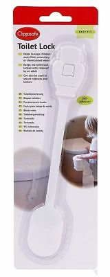 Clippasafe Self Adhesive Secure Toilet Complete Childproof Lock