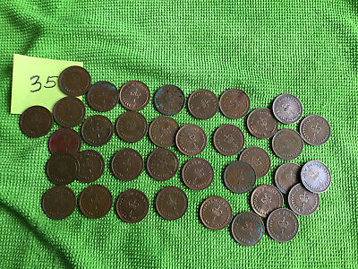 Coins Queen Elizabeth II Job Lot of 35 Decimal Half Pence Coins (1/2 p)