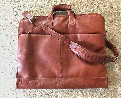 Johnston & Murphy Leather Garment Bag
