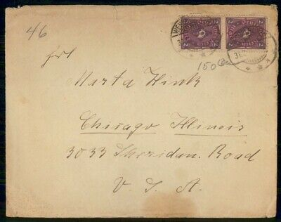Mayfairstamps Germany 1920s to Chicago Cover wwf553