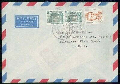 Mayfairstamps Germany 1990 to Milwaukee WI Cover wwf999