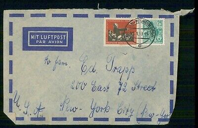 Mayfairstamps Germany 1959 to New York Cover wwf1077