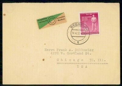 Mayfairstamps Germany 1955 Bernburg to Chicago Cover wwf925