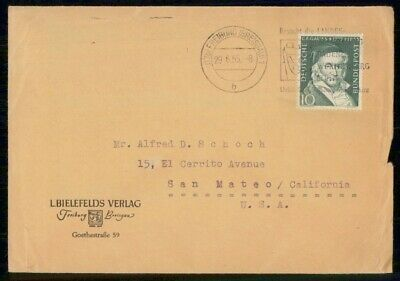 Mayfairstamps Germany 1955 Freiburg to US Cover wwf907