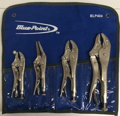 Blue Point Tools 4pc Locking Pliers Set BLP404 vise grips. (NO BOX)