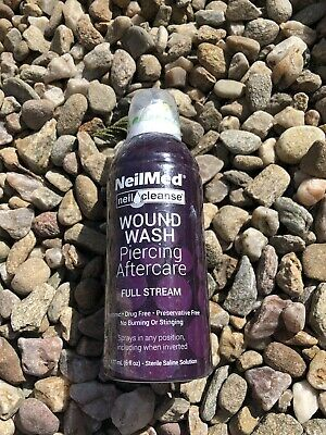 3x Neilmed Wound Wash Piercing Aftercare. Expired 02/20