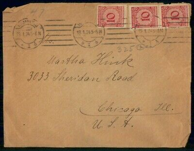 Mayfairstamps Germany 1924 Hamburg to Chicago Cover wwf549