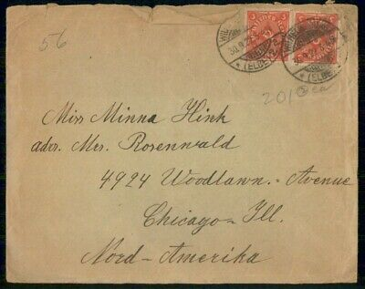Mayfairstamps Germany 1922 Wilhlem. To Chicago Cover wwf551