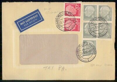 Mayfairstamps Germany 1955 Hamburg Air Mail Cover wwf_00469