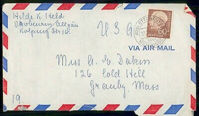 Mayfairstamps Germany Ottoreuren to Massachusetts Cover wwe_98963