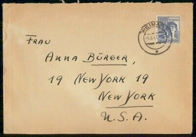 Mayfairstamps Germany 1947 Weimar to New York Cover wwe_99489