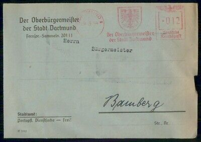 Mayfairstamps Germany 1944 Dortmund to Bamberg Cover wwe_99471