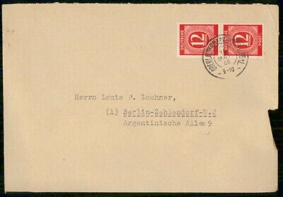 Mayfairstamps Germany 1946 Oberlauterbach to Berlin Cover wwe_99735